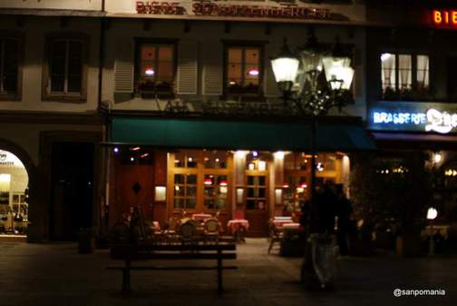 2011/11/13;Place Gutenberg広場のブラッスリー