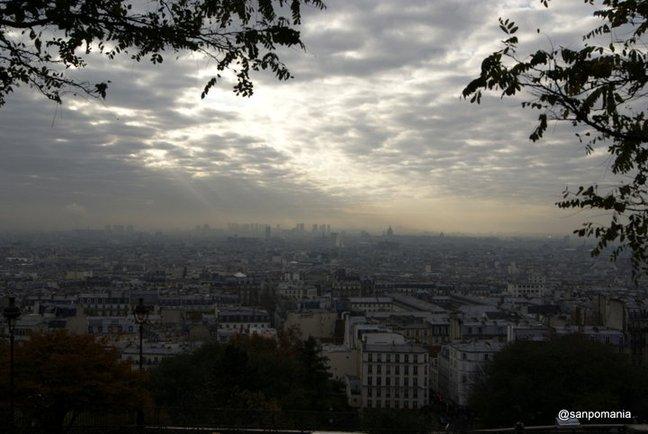 2011/11/18;サクレクール寺院前からパリを一望