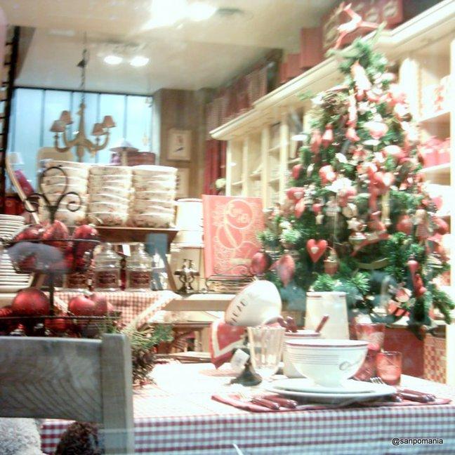 2011/11/18;クリスマスモードのディスプレイ