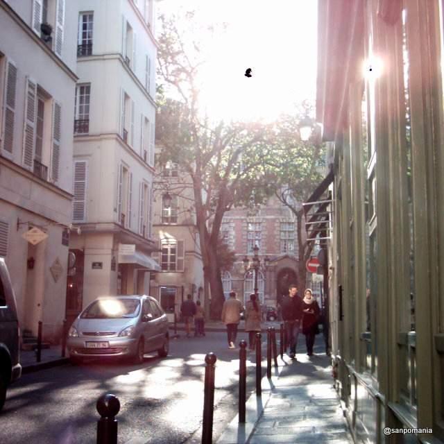 2011/11/20;道の真ん中に小さな広場がある景色