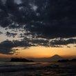 :七里ヶ浜の夕景