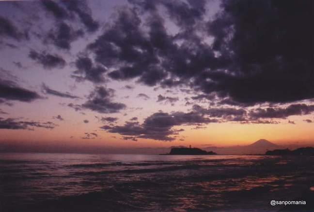 2012/03/24;七里ヶ浜の夕焼け
