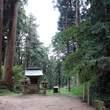 山道と途中の寺