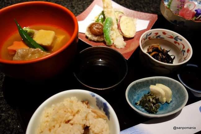 2012/09/18;加賀屋の夕食ご膳