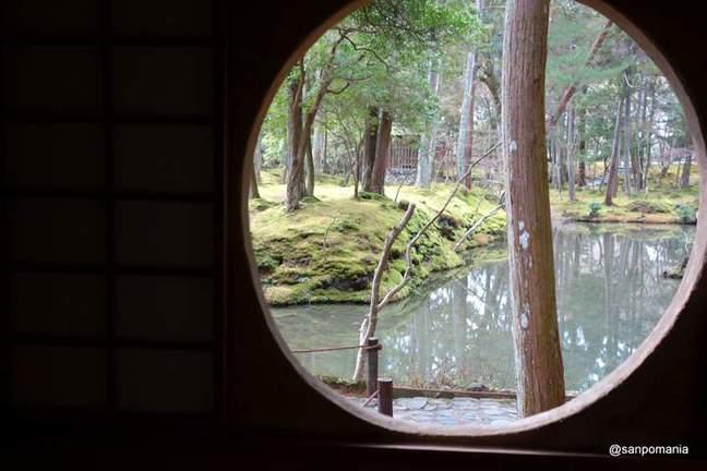 2013/01/19;漂北亭の丸窓と池