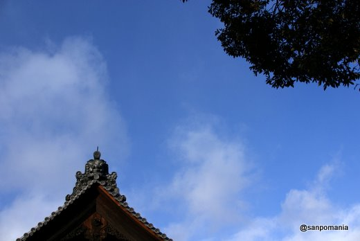 2011/01/10;金閣寺の庫裡の屋根