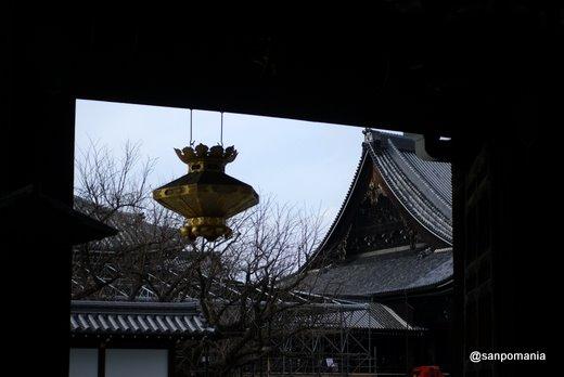 2011/02/13;西本願寺の御影堂門からみた阿弥陀堂